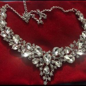 Women's Necklace Dangle Bridal Earrings Set